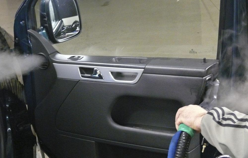 чистка автомобиля салона сухим паром в гродно
